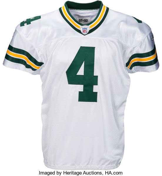 more photos a4ee0 0204a 2007 Brett Favre Game Worn & Signed Green Bay Packers Jersey ...