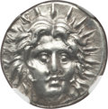 Ancients:Greek, Ancients: CARIAN ISLANDS. Rhodes. Ca. 250-200 BC. AR didrachm (6.85gm). NGC Choice AU 5/5 - 3/5....