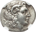 Ancients:Greek, Ancients: THRACIAN KINGDOM. Lysimachus (305-281 BC). AR drachm. NGCXF....