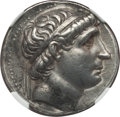 Ancients:Greek, Ancients: SELEUCID KINGDOM. Antiochus I Soter (281-261 BC). ARtetradrachm (17.13 gm). NGC AU 5/5 - 4/5....