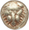Ancients:Greek, Ancients: IONIA. Miletus. Ca. 600-550 BC. EL 1/24 stater ormyshemihecte (0.54 gm). NGC VF 5/5 - 3/5....