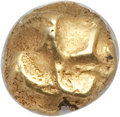 Ancients:Greek, Ancients: IONIA. Uncertain City. Ca. 625-550 BC. EL 1/24 stater ormyshemihecte (0.64 gm). NGC AU 4/5 - 5/5....