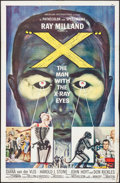 """Movie Posters:Science Fiction, X - The Man with the X-Ray Eyes (American International, 1963). OneSheet (27"""" X 41"""") Reynold Brown Artwork. Science Fiction..."""