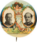 """Political:Pinback Buttons (1896-present), William Howard Taft and William Jennings Bryan: Gorgeous """"Bartender's Friend"""" Jugate...."""