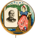 Political:Pinback Buttons (1896-present), William Jennings Bryan: Multicolored Golden Age Election Gem. ...