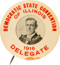 Political:Pinback Buttons (1896-present), Woodrow Wilson: Rare 1916 Illinois Convention Picture Pin....