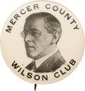 Political:Pinback Buttons (1896-present), Woodrow Wilson: Possibly Unique New Jersey Club Button....