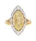 Estate Jewelry:Rings, Colored Diamond, Diamond Gold Ring, Tremonti T...