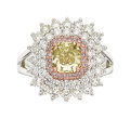 Estate Jewelry:Rings, Fancy Colored Diamond, Diamond, Platinum, Gold Ring, Tremonti. ...