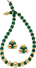 Estate Jewelry:Suites, Chrysoprase, Gold Jewelry Suite, Marina B.. ...