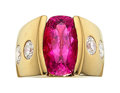 Estate Jewelry:Rings, Pink Tourmaline, Diamond and Gold Ring The rin...