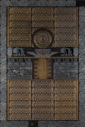 Fine Art - Sculpture, American, Theo Kamecke (American, 1937-2017). By the Mayan Calendar,1988. Circuit boards on plywood. 41 x 26-5/8 inches (104.1 x ...