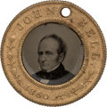 Political:Ferrotypes / Photo Badges (pre-1896), John Bell: Mint Condition Back-to-Back Ferrotype....