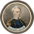 Political:Ribbons & Badges, Taylor & Fillmore: Attractive, Hand-Colored Pewter Rim Medallion....