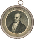 "Political:Small Miscellaneous (pre-1896), John Quincy Adams: Profoundly Rare ""Pewter Rim"" from the 1828Election. ..."