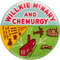 """Political:Pinback Buttons (1896-present), Wendell Willkie: Colorful """"Chemurgy"""" Slogan Button...."""