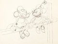 Animation Art:Production Drawing, Touchdown Mickey Mickey Mouse and Mi...