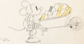 Animation Art:Production Drawing, Building a Building Mickey Mouse Ani...