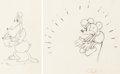 Animation Art:Production Drawing, The Dognapper Mickey Mouse and Donal...