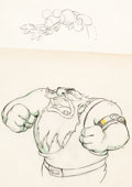 Animation Art:Production Drawing, Giantland Mickey Mouse and Rumplewat...