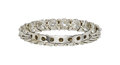 Estate Jewelry:Rings, Diamond, White Gold Eternity Band The ring fea...