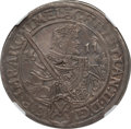German States:Saxony, German States: Saxony. Christian II, Johann Georg I and August Taler 1611-HR AU58 NGC,...