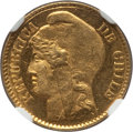 Chile, Chile: Republic gold 5 Pesos 1895-So MS66 NGC,...