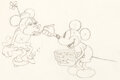 Animation Art:Production Drawing, The Klondike Kid Mickey Mouse and Mi...