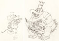 Animation Art:Production Drawing, Trader Mickey Mickey Mouse and Nativ...