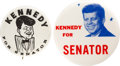 Political:Pinback Buttons (1896-present), [John F. Kennedy]: Anti-Kennedy Satirical Buttons.... (Total: 2 Items)