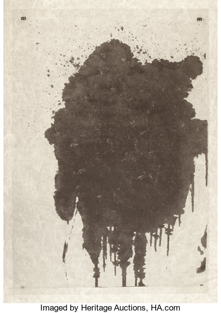 Christopher Wool (b. 1955) Untitled, 2002 Screenprint on Japanese paper 50-1/4 x 34-3/4 inches (127.6 x 88.3 cm) (ima...