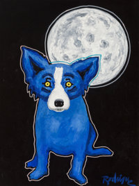 George Rodrigue (1944-2013) Tiffany Moon, 1992 Acrylic on canvas 40 x 30 inches (101.6 x 76.2 cm)