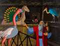 Animation Art:Production Cel, The Greatest Adventure: Stories From the Bible NoahProduction Cel Setup and Master Background (Hanna-Barbera,1986).... (Total: 2 )