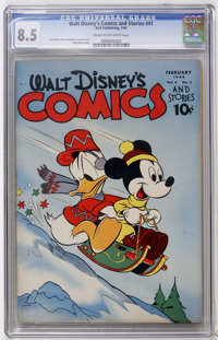 Walt Disney's Comics and Stories #41 (Dell, 1944) CGC VF+ 8.5 Cream to off-white pages