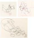 Animation Art:Production Drawing, Clock Cleaners Mickey Mouse Animation Drawings Group of 3(Walt Disney, 1937).... (Total: 3 Items)
