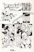 Original Comic Art:Panel Pages, Ron Harris, Dick Giordano, and Arne Starr Infinity, Inc. #24Page 24 Original Art (DC, 1986)....