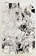 Original Comic Art:Splash Pages, Ed Benes Gunfire #13 Page 4 Splash Page Original Art (DC,1995)....