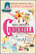 """Movie Posters:Animation, Cinderella (Buena Vista, R-1965). One Sheet (27"""" X 41"""") Style A.Animation.. ..."""