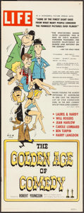 """Movie Posters:Documentary, The Golden Age of Comedy (20th Century Fox, 1958). Insert (14"""" X 36""""). Documentary.. ..."""
