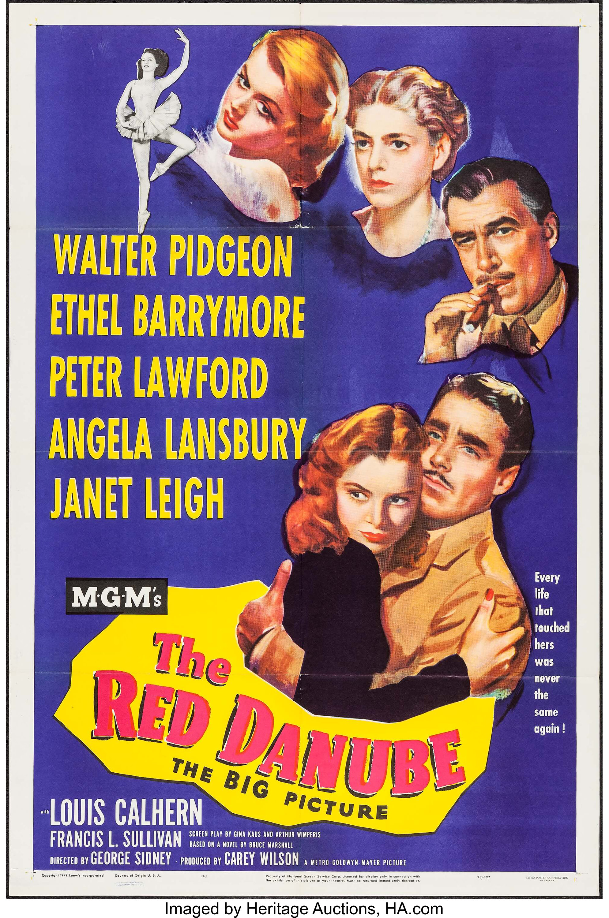 "The Red Danube (MGM, 1949). One Sheet (27.25"" X 41""). Drama ..."