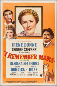 "I Remember Mama (RKO, 1948). One Sheet (27"" X 41""). Drama"