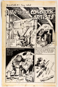 Marie Severin Not Brand Echh #11 Complete 2-Page Story Production Stats (Marvel  Comic Art