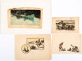 Original Comic Art:Miscellaneous, Matt Clark Western Scenes Preliminary Original Art Group of4 (c. 1930s-40s).... (Total: 4 Original Art)