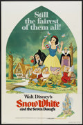 "Movie Posters:Animated, Snow White and the Seven Dwarfs (Buena Vista, R-1975). One Sheet(27"" X 41""). Animated...."