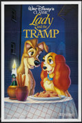 "Movie Posters:Animated, Lady and the Tramp (Buena Vista, R-1988). International One Sheet(27"" X 41""). Animated...."
