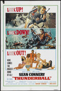 "Movie Posters:James Bond, Thunderball (United Artists, R-1980). One Sheet (27"" X 41""). James Bond...."