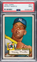 Baseball Cards:Singles (1950-1959), 1952 Topps Mickey Mantle #311 PSA Mint 9.. ...