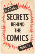Books:Creator Biography, Secrets Behind The Comics #1 Stan Lee-Signed Copy (FamousEnterprises Inc., 1947) Condition: VG/FN....