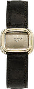 Estate Jewelry:Watches, Boucheron Gentleman's White Gold Watch, French. ...