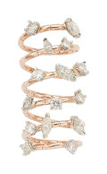 Estate Jewelry:Rings, Diamond, Gold Ring The spring ring features fu...